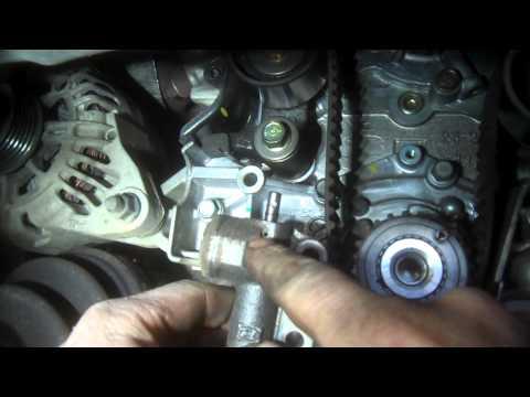 Timing belt replacement Hyundai Sonata 2.7L V6 2005 water pump Install Remove Replace