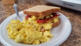 High Protein Breakfast Sandwich (Macro-friendly,Bodybuilding,Weight Loss)