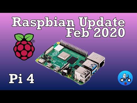 Raspberry Pi 4. Raspbian Update Feb 2020 Many Changes. YouTube 1080 Test.