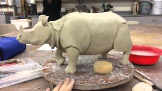 Greater One Horned Rhino sculpture
