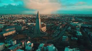 Iceland's Hallgrímskirkja Church by Drone