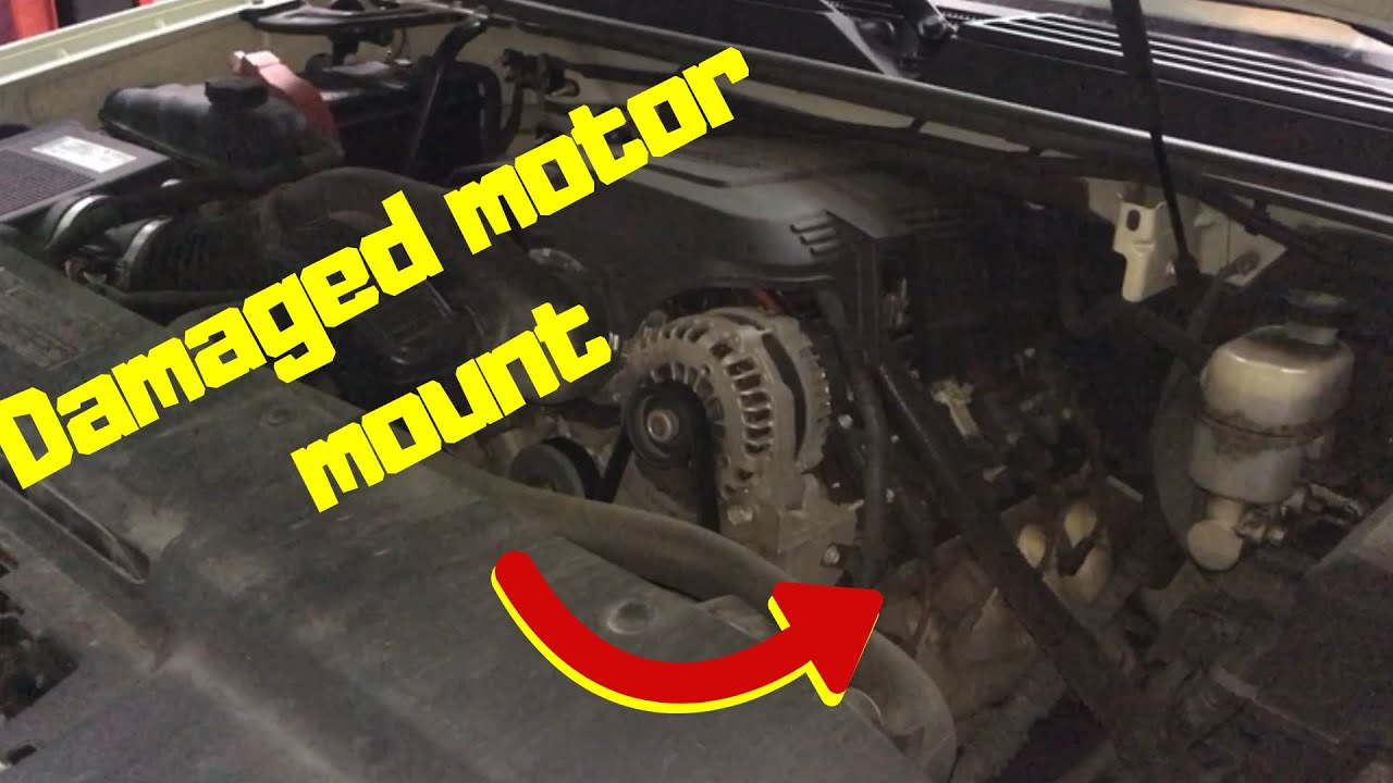 GM motor mount replacement - YouTube