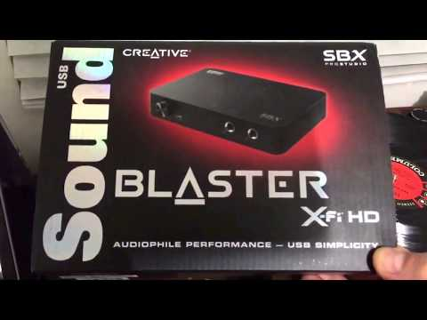 Creative Sound Blaster USB tarjeta externa X-FI HD SB1240 revisión