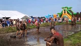 Kwalleballen / Touwtrekken Oranjefeestterrein Oudleusen 2016