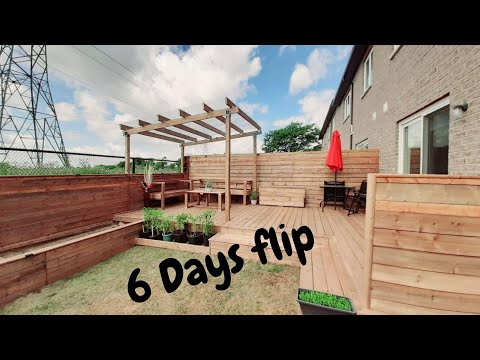OUR Backyard Makeover || DIY || Best 6 Days Flip || Wooden Patio||Summer Project 2020