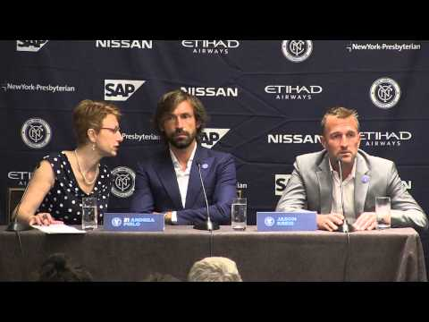 Andrea Pirlo's Press Conference Presented by Etihad Airways Partner Alitalia
