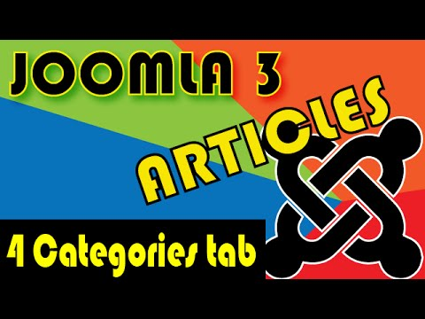 Joomla 3 Tutorials: Article Options: Categories Tab