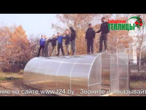 ЛУЧШИЕ теплицы из поликарбоната купить в Минске, КРЕПКАЯ теплица из трубы с поликарбонатом