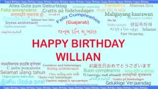Willian   Languages Idiomas - Happy Birthday