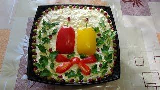 """Салат """"Новогодние свечи"""". Salad """"Christmas Candles""""."""