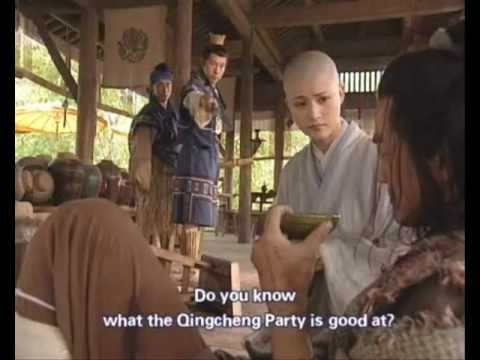 Laughing in the Wind 2001...Tavern Fight scene (Tian, Linghu, Yi Lin...with music).wmv