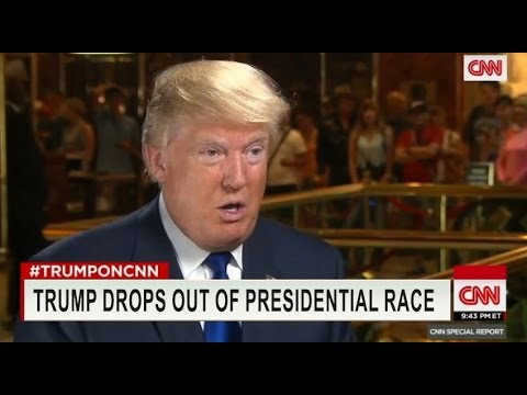 Donald Trump Announces He Will Drop Out Of Presidential ...