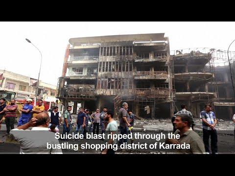 Suicide car bomb kills scores in Baghdad