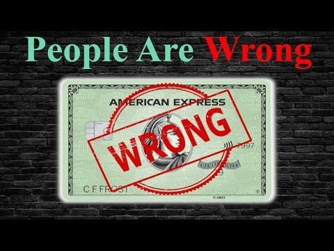 #1 Thing Everyone Gets WRONG About The American Express Green Card