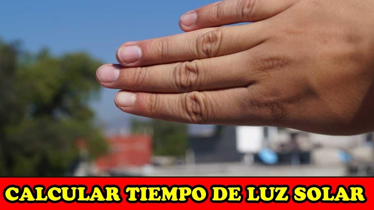 Calcular Tiempo de Luz Solar Con Las Manos - Tecnica De SUPERVIVENCIA - YMX supervivencia