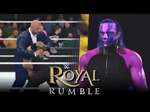 WWE 2K16 Royal Rumble 2016 : Triple H Screws Roman Reigns & Jeff Hardy Returns