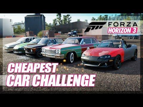 Forza Horizon 3 - The CHEAPEST Car Challenge! (Demolition Fun)
