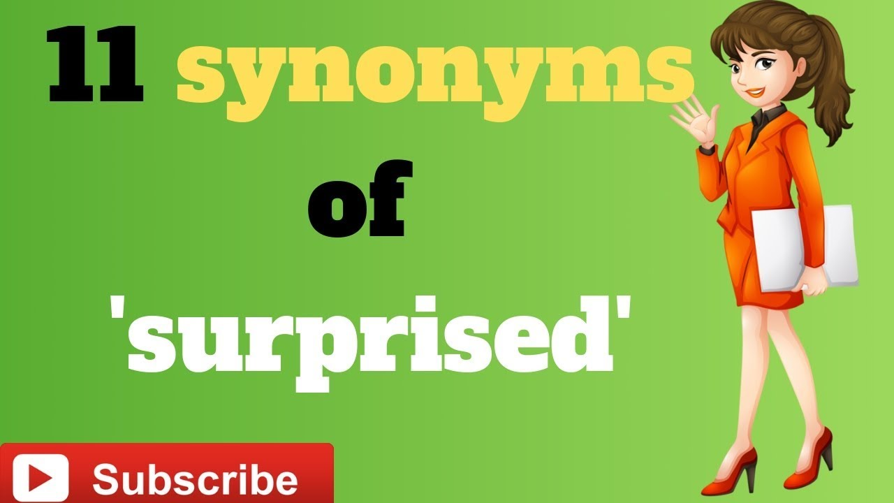 11 synonyms of 'surprised' - YouTube