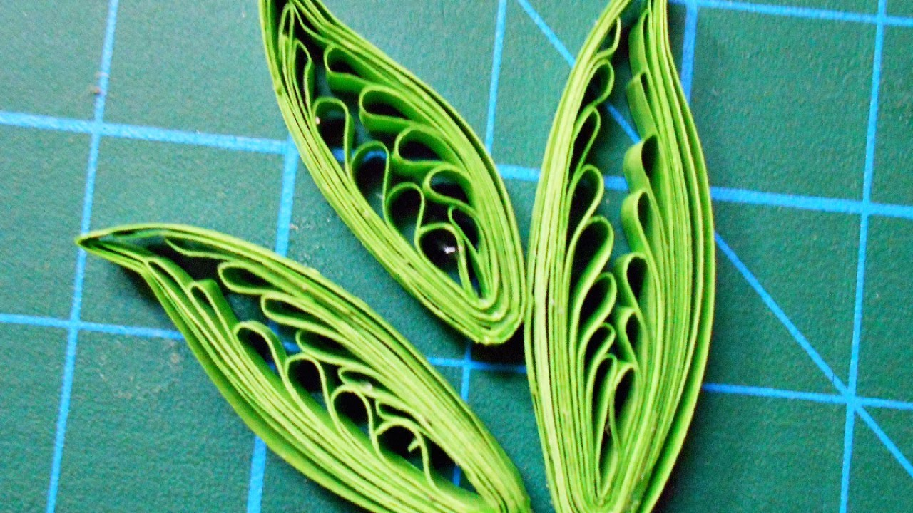 How To Make Quilled leaves by Comb DIY DIY Tutorial