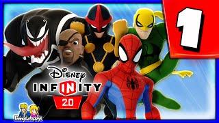 Disney Infinity 2.0 Spider-Man Walkthrough Part 1 (Ultimate Spider Friends) Spiderman Play Set