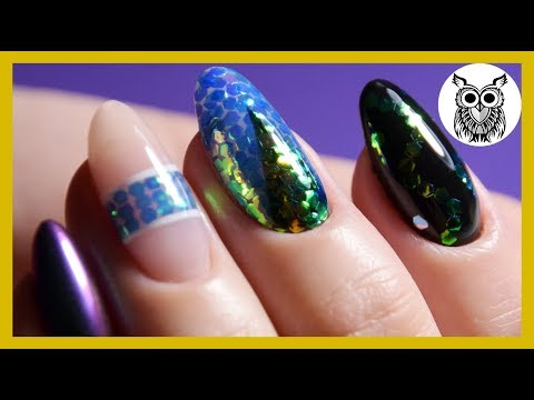 Рыбья чешуя дизайн ногтей