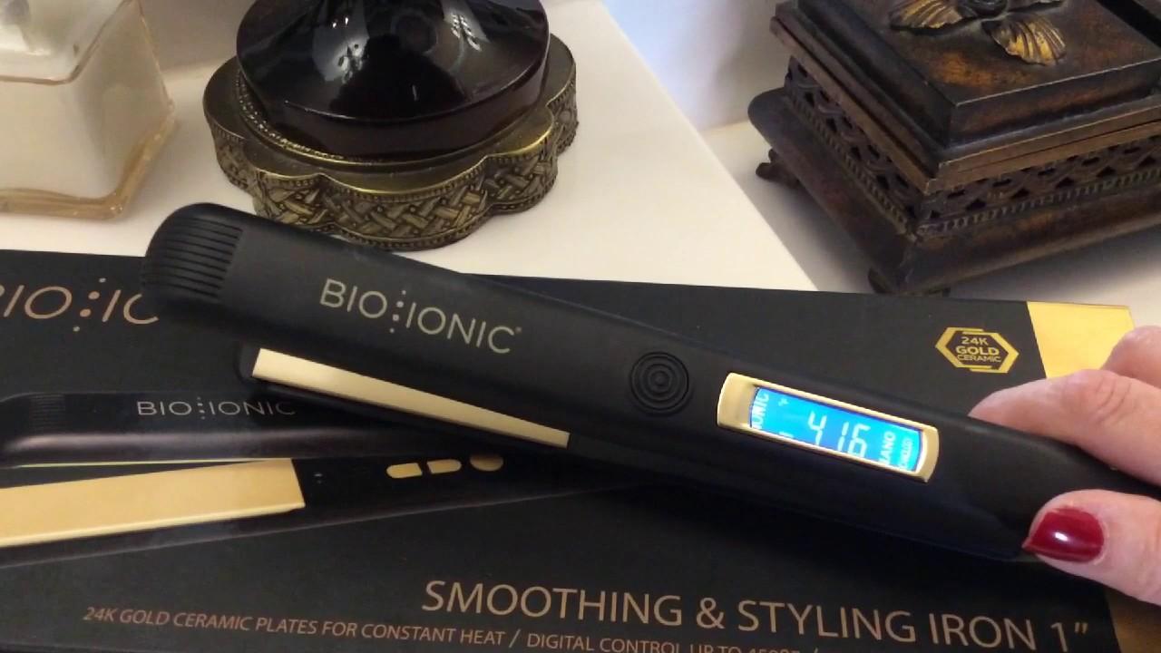 BIO IONIC Gold Pro Flat Iron 1\  Review That i bought from Amazon & BIO IONIC Gold Pro Flat Iron 1\