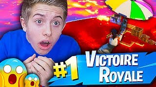 JE TENTE LE TOP 1 SUR LE NOUVEAU MODE DE JEU THE FLOOR IS LAVA SUR FORTNITE BATTLE ROYALE !!!