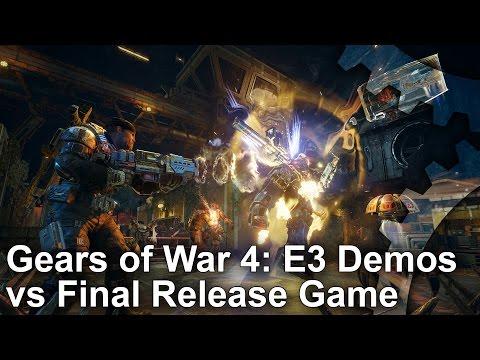 Как изменилась графика в Gears of War 4 с первой демонстрации на E3 2015 до релиза
