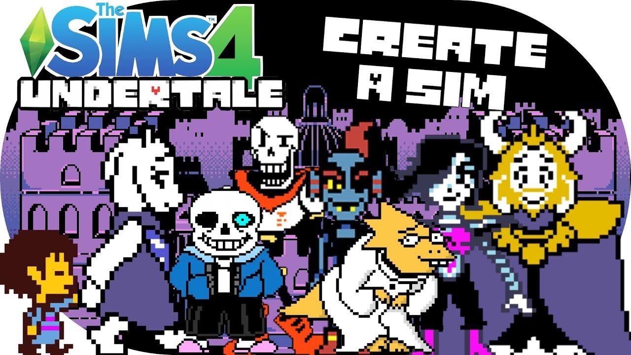 the sims 4 undertale cas 2018 create a sim youtube