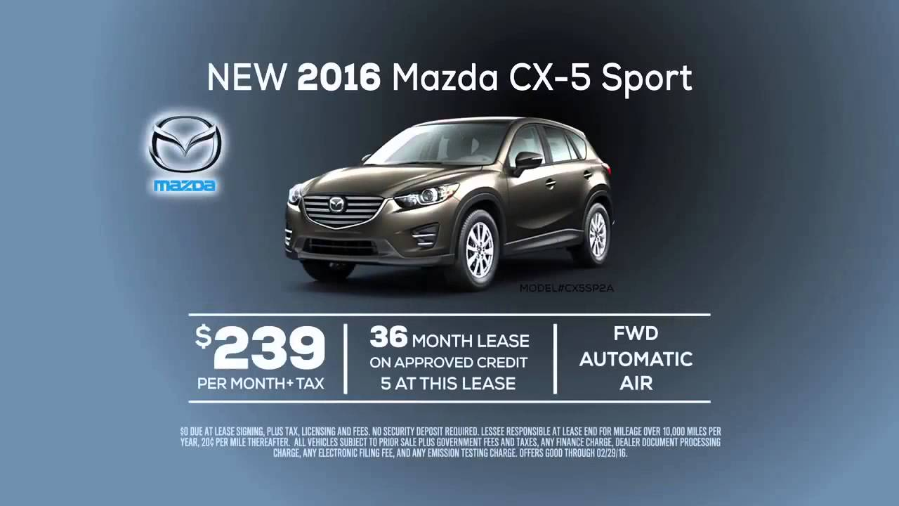 Mazda CX Lease Special From Mazda Of Orange YouTube - Mazda cx 5 lease specials
