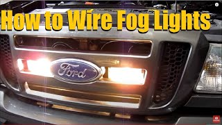How to wire Fog Lights/ Driving Lights (2006 Ford Ranger)