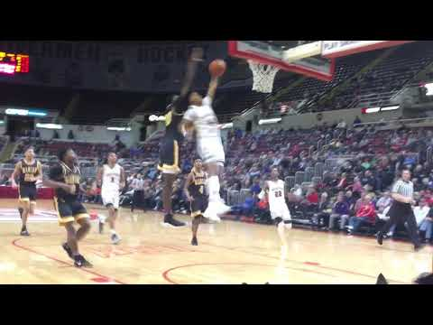 Chicago Morgan Park sophomore Adam Miller with one-handed dunk in Class 3A state semifinal