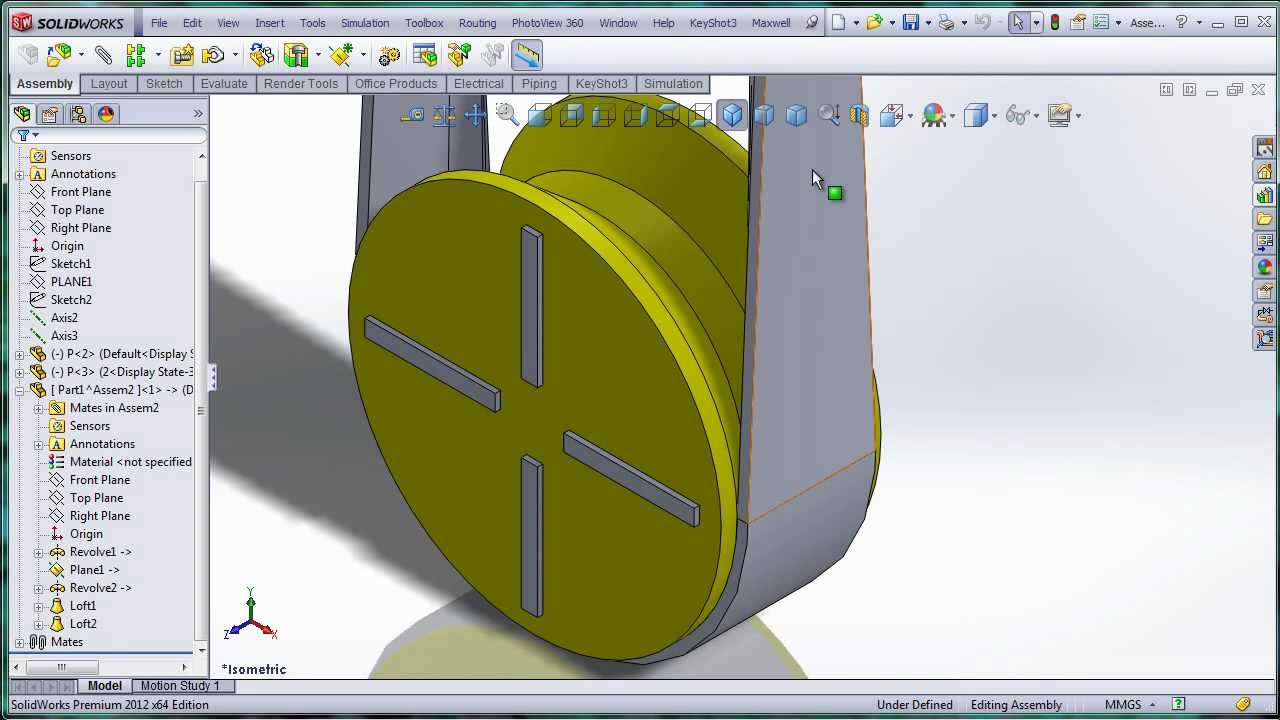 how to work out cross section of 3d shapes