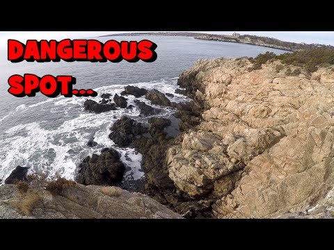 That Was A DANGEROUS Fishing Spot... (Rhode Island Fishing Session)