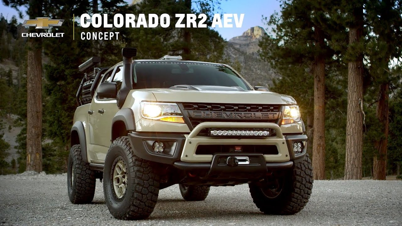 2017 Chevy Colorado Zr2 >> Chevrolet Colorado ZR2 AEV Concept / SEMA 2017 - YouTube