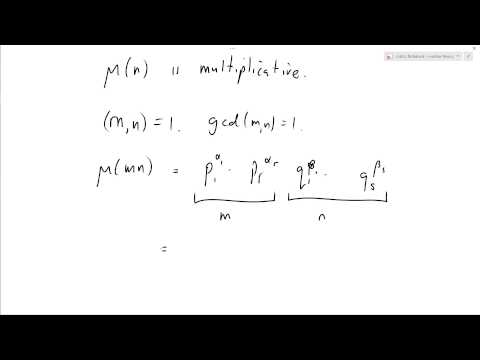 Number Theory 27: Mobius function is multiplicative