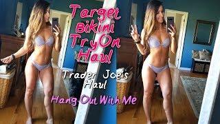 Target Bikini Try On | Trader Joe's Haul | Hang Out With Me