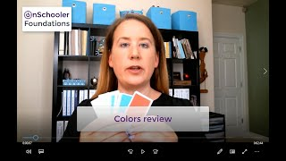 A8-Colors review (How to teach your preschool/kindergarten child these color names)