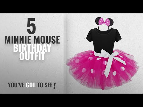 Top 10 Minnie Mouse Birthday Outfit [2018]: TiaoBug Girls Princess Polka Dots Bowknot Tutu Dress
