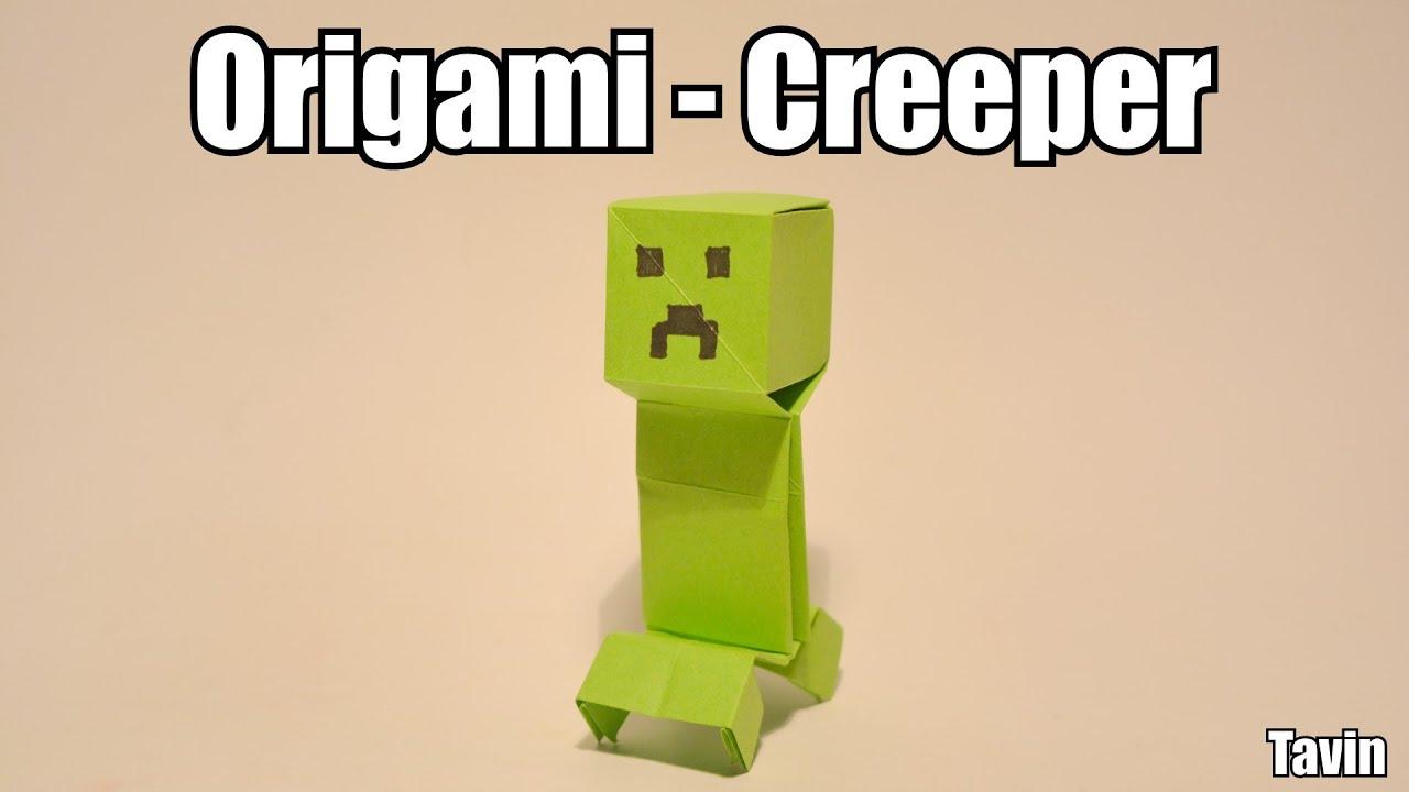 origami creeper youtube