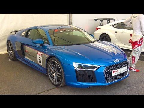 Chasing An F1 Car In An Audi R8 V10 Plus