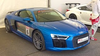 Chasing An F1 Car In An Audi R8 V10 Plus