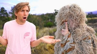GHILLIE SUIT HIDE AND SEEK! *impossible to find*