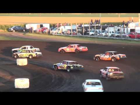 IMCA Hobby Stock feature Benton County Speedway 8/13/17