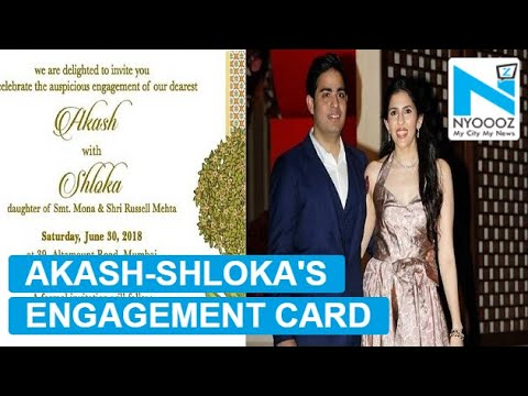 Akash Ambani, Shloka Mehta's video wedding invitation  is unmissable!