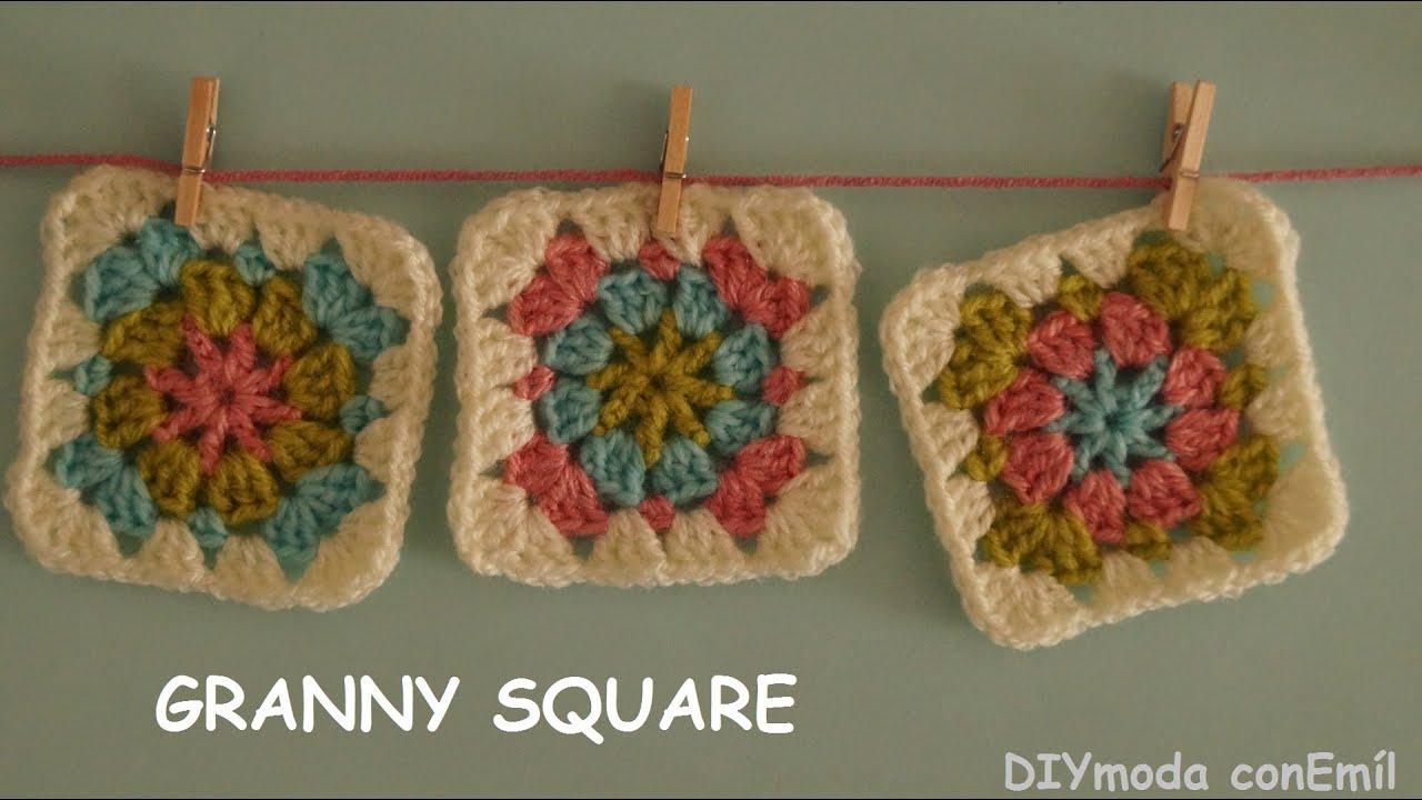 Granny square a crochet paso a paso - YouTube