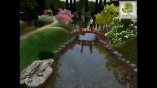 3D Landscape Design - residence garden