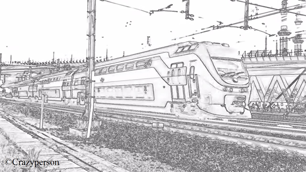 Ns Virm Treinstel 8723 Komt Langs Nabij Rotterdam Zuid In Lijntekening Beeld Youtube
