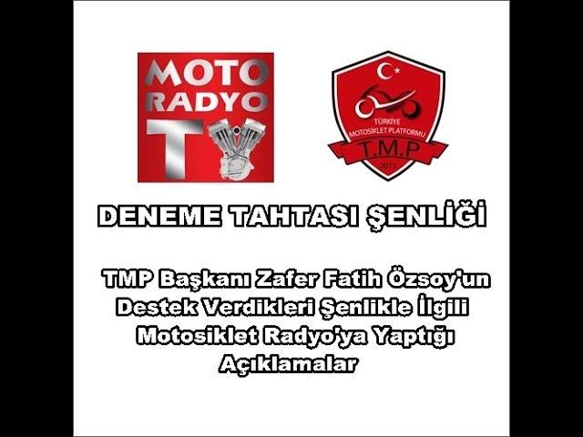 Deneme Tahtası Şenliği TMP Bşk Zafer Fatih Özsoy Açıklamaları