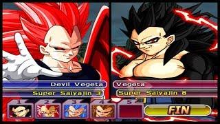 VEGETA E SUAS FORMAS BIZARRAS!! Dragon Ball Z Budokai Tenkaichi 3 AF
